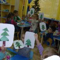 Конспект занятия «Новогодняя открытка» (средняя группа)