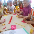 Фотоотчёт по кружковой работе в старшей группе. Изготовление бабочки из цветной бумаги методом оригами