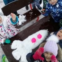 Фотоотчет «Снежная ракета. Тематическая неделя «Космос»