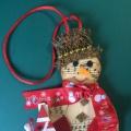 Мастер-класс по изготовлению новогодней игрушки «Снеговичок»