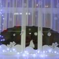 Новогоднее оформление окон (елочки из синельной проволоки)
