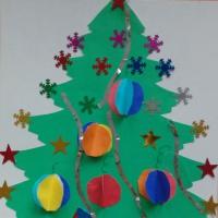 Детский мастер-класс по изготовлению новогодней открытки в подарок для родителей