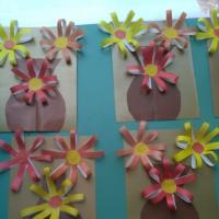 Детский мастер-класс «Цветы для мамы»