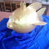 Мастер-класс по изготовлению елочной игрушки из папье-маше «Золотая рыбка»