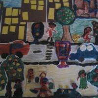 Коллективная работа «Наш город» (старший возраст)