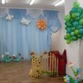 Оформление музыкального зала к детскому театрализованному представлению «Ку-ка-ре-ку»