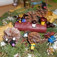 Фотоотчет о выставке поделок из природного материала «Осень в гости к нам пришла»