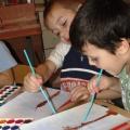 Художественно-эстетическое развитие детей на тему: «Краски осени» в подготовительной группе.