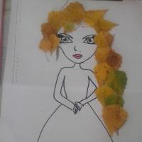 Аппликация «Осенняя красавица», коллективная работа.