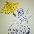 Мастер-класс «Яркие зонтики» (оригами)