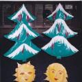 «Зимние Ёлочки», «Солнышки»— использование сшитых из клеёнки пособий для дидактических, подвижных игр и основных движений