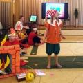 Фотоотчет о театрализованном представлении «Спички детям не игрушки», проведенном детьми начальной школы для дошкольников