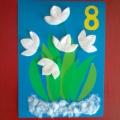Мастер-класс по изготовлению открытки ко Дню 8 марта «Подснежники!»
