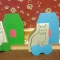 Дидактическая игра по сенсорному развитию детей младшего возраста «Домик и бантик в подарок для кошечки»