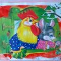 Фотоотчёт о занятии по рисованию во второй младшей группе «Книжка-малышка» по мотивам сказки «Заюшкина избушка»