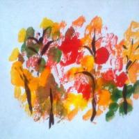 Конспект занятия по рисованию в технике монотипии «Осень на опушке краски разводила» (подготовительная группа)