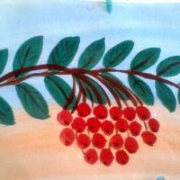 Конспект занятия по рисованию на тему «Ветка рябины» с детьми 5–6 лет