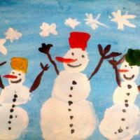 Рисование с детьми старшего дошкольного возраста «Разные снеговики»