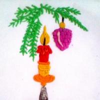 Фотоотчет о занятии по пластилинографии с детьми 5–7 лет «Рождественские свечи»