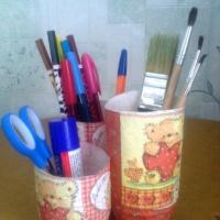 Мастер-класс «Изготовление и декорирование карандашницы»