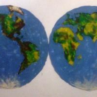 «Глобус. Карта Земли». Занятие по пластилинографии с детьми 6–7 лет