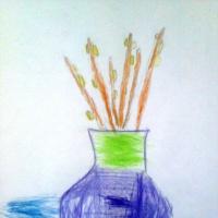 «Верба в вазе» Фотоотчёт о занятии по рисованию с детьми 5–7 лет