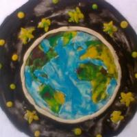 Фотоотчёт о занятии пластилинографией с детьми 6–7 лет «Есть одна планета-сад!»