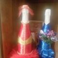 Декорирование новогодних бутылок