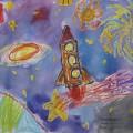 Выставка детских рисунков «Космос»