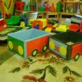 Обогащение развивающей предметно-пространственной среды группы. Машины из картонных коробок