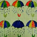 Художественное творчество «Разноцветные зонтики»