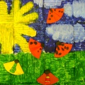 Коллективное художественное творчество «Жучки на летнем лугу»