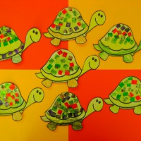 Фотоотчёт о творческих работах «Черепашки спешат на праздник»
