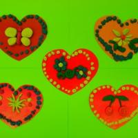 Фотоотчёт творческих работ «Оформление сердечек»