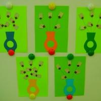 Аппликация «Веточки вербы в технике оригами»