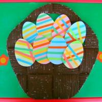 Фотоотчёт творческих работ по аппликации «Пасхальные яйца»