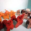 Герои сказок «Три медведя», «Три поросёнка», «Три котёнка» из деревянных катушек от ниток. Мастер-класс