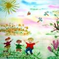 «Если солнце в небе светит, очень радуются дети!» Участие в городском конкурсе детских рисунков «Пусть всегда будет солнце»