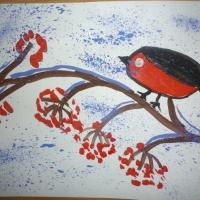 Конспект НОД по рисованию «Снегири на веточке рябины» для старшего возраста