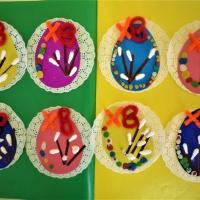 Фотоотчёт о продуктивной деятельности детей 5–6 лет «Пасхальная открыточка»