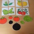 Дидактическая игра «Овощи» для детей младшего дошкольного возраста