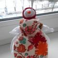 Мастер-класс куклы из ткани «Снежная баба»