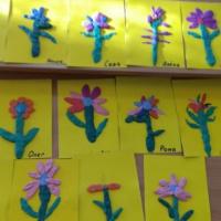 Конспект НОД по художественно-эстетическому развитию в средней группе. Пластилинография «Цветок для мамы»