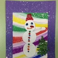 «Новогодняя метель». Праздничная открытка для детей 5–7 лет