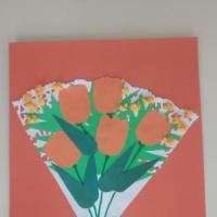 Аппликация к 8 марта для старшей группы «Цветы»