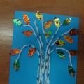 Мастер-класс «Осенняя березка» с использованием бросового материала