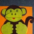 Мастер-класс: поделка для детей дошкольного возраста с использованием нетрадиционного материала «Обезьянка Анфиса»