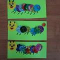 Конструирование с детьми среднего возраста, с использованием нетрадиционного материала конфетных фантиков «Гусеница»
