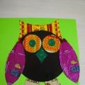 Конструирование из бумаги с использованием бросового материала конфетных фантиков «Совушка-умная головушка»
