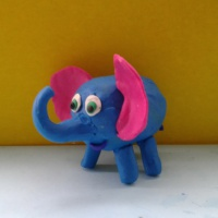 Мастер класс по лепке из пластилина с использованием контейнера от киндер-сюрприза «Слоненок».